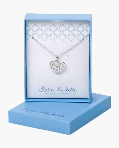 Silver Swirl Heart Necklace