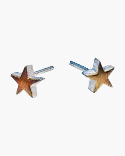 Two-Tone Star Earrings