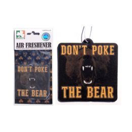 Sully's Tees Don't Poke the Bear Car Air Freshener