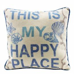 Beachcombers International This Is My Happy Place Decorative Throw Pillow