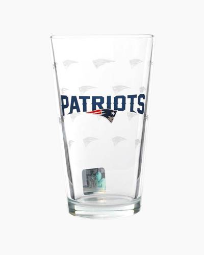 New England Patriots Satin Etch Pint Glass
