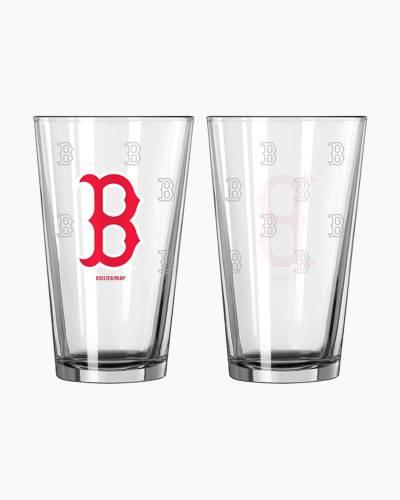 Boston Red Sox Satin Etch Pint Glass