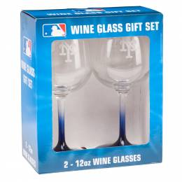 Boelter Brands New York Mets Wine Glass Pair