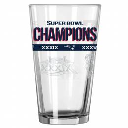 Boelter Brands New England Patriots 5X Super Bowl Champions Pint Glass