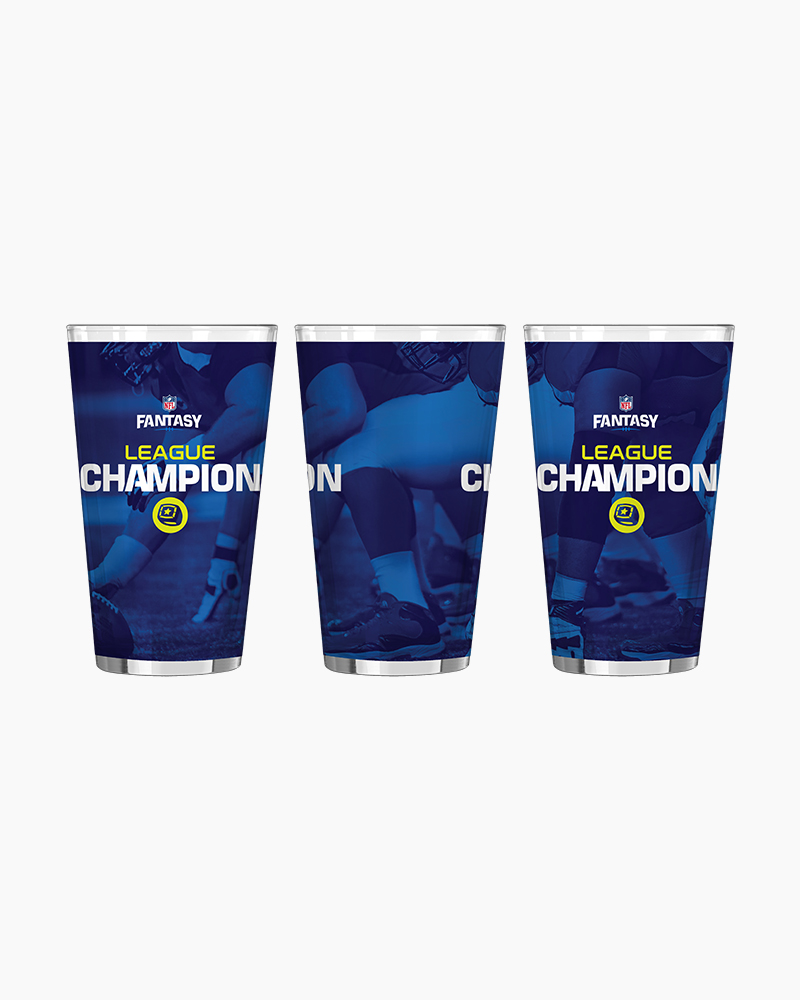 Boelter Brands NFL Fantasy Football League Champion Satin Etch Pint Glass