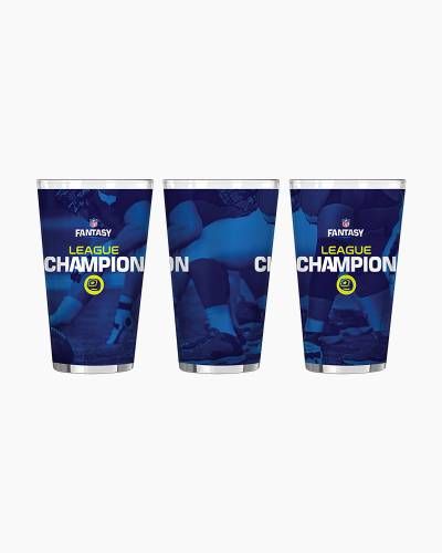 NFL Fantasy Football League Champion Satin Etch Pint Glass
