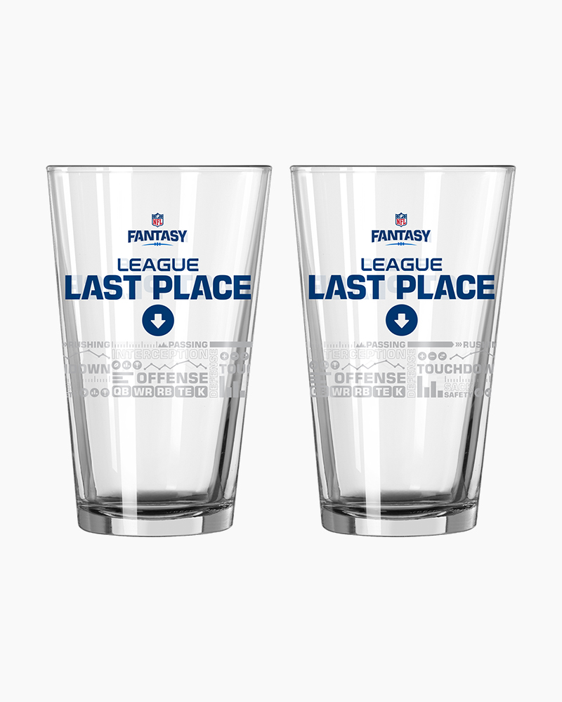 Boelter Brands NFL Fantasy Football Last Place Satin Etch Pint Glass