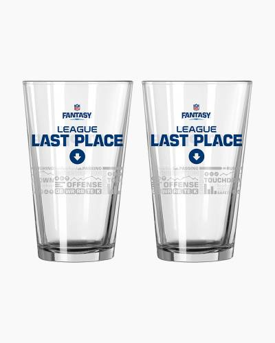 NFL Fantasy Football Last Place Satin Etch Pint Glass