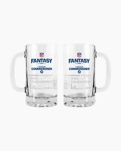 NFL Fantasy Football Satin Etch Tankard Glass