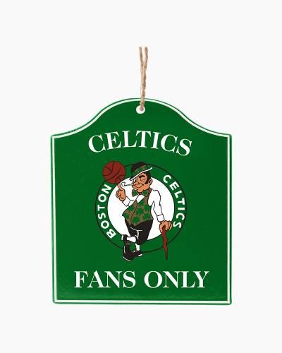 Boston Celtics Fans Only Plaque Ornament