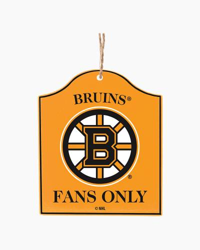 Boston Bruins Fans Only Plaque Ornament