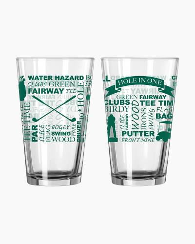 Golfing Hole in One Pint Glass
