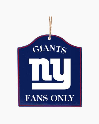 New York Giants Fans Only Plaque Ornament