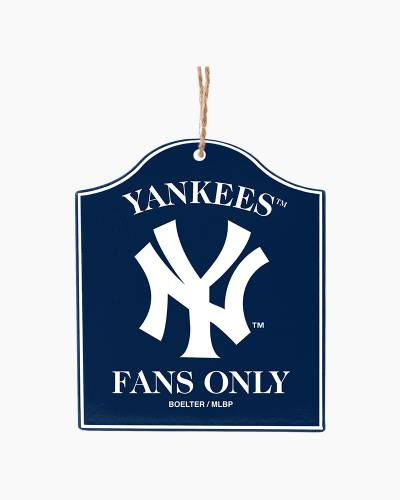 New York Yankees Fans Only Plaque Ornament