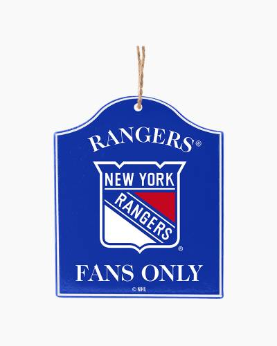 New York Rangers Fans Only Plaque Ornament