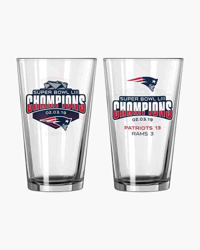New England Patriots Super Bowl LIII Champions Pint Glass