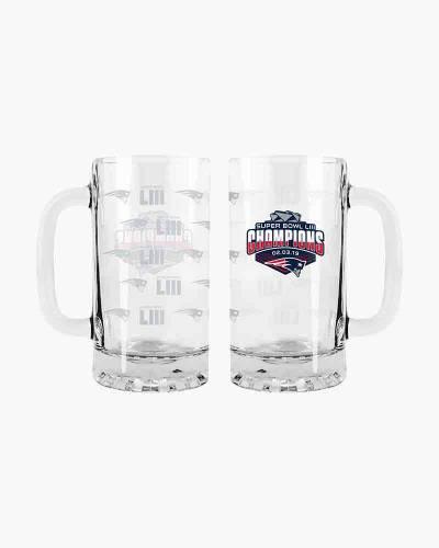 New England Patriots Super Bowl LIII Champions Tankard Glass