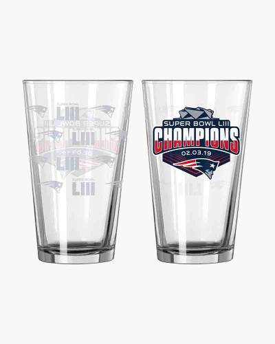 New England Patriots 6-Time Champions Pint Glass