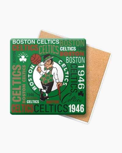 Boston Celtics Ceramic Square Coasters