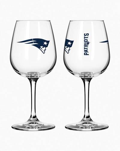 New England Patriots Game Day Wine Glass