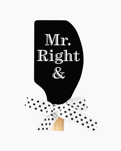 Mr. & Mrs. Right Spatula - Black