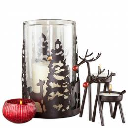 The Pomeroy Collection Enchanted Forest Candle Holder Gift Set