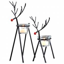 The Pomeroy Collection Reindeer Tea Light Holder Set (Set of 2)