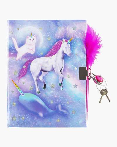 Celestial Unicorn Locking Journal with Pen