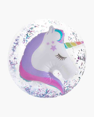Unicorn 3-D Confetti Glitter Beach Ball