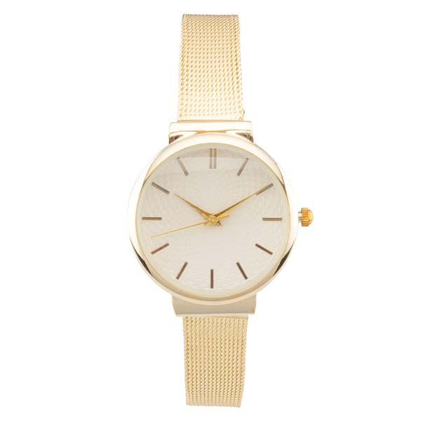 Time World Metallic Strap Fashion Watch