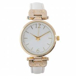 Time World Saffiano Textured Strap Watch
