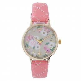 Time World Floral Face Watch