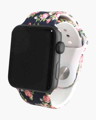 Apple Watch Silicone Band in Floral Navy (38mm)