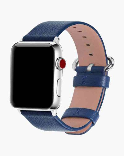 Apple Watch Faux Leather Band in Navy (38mm)