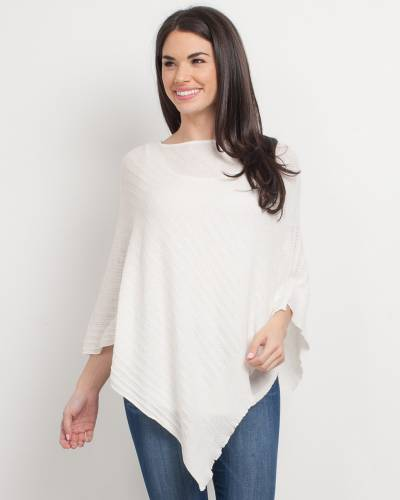 Exclusive Light Lace Poncho in White