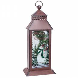 Transpac Imports Rustic Holiday Lantern
