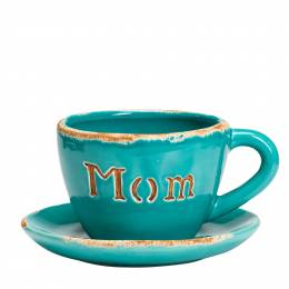 Mom Ceramic Teacup Planter