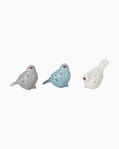 Ceramic Pastel Bird Figurine (Assorted)