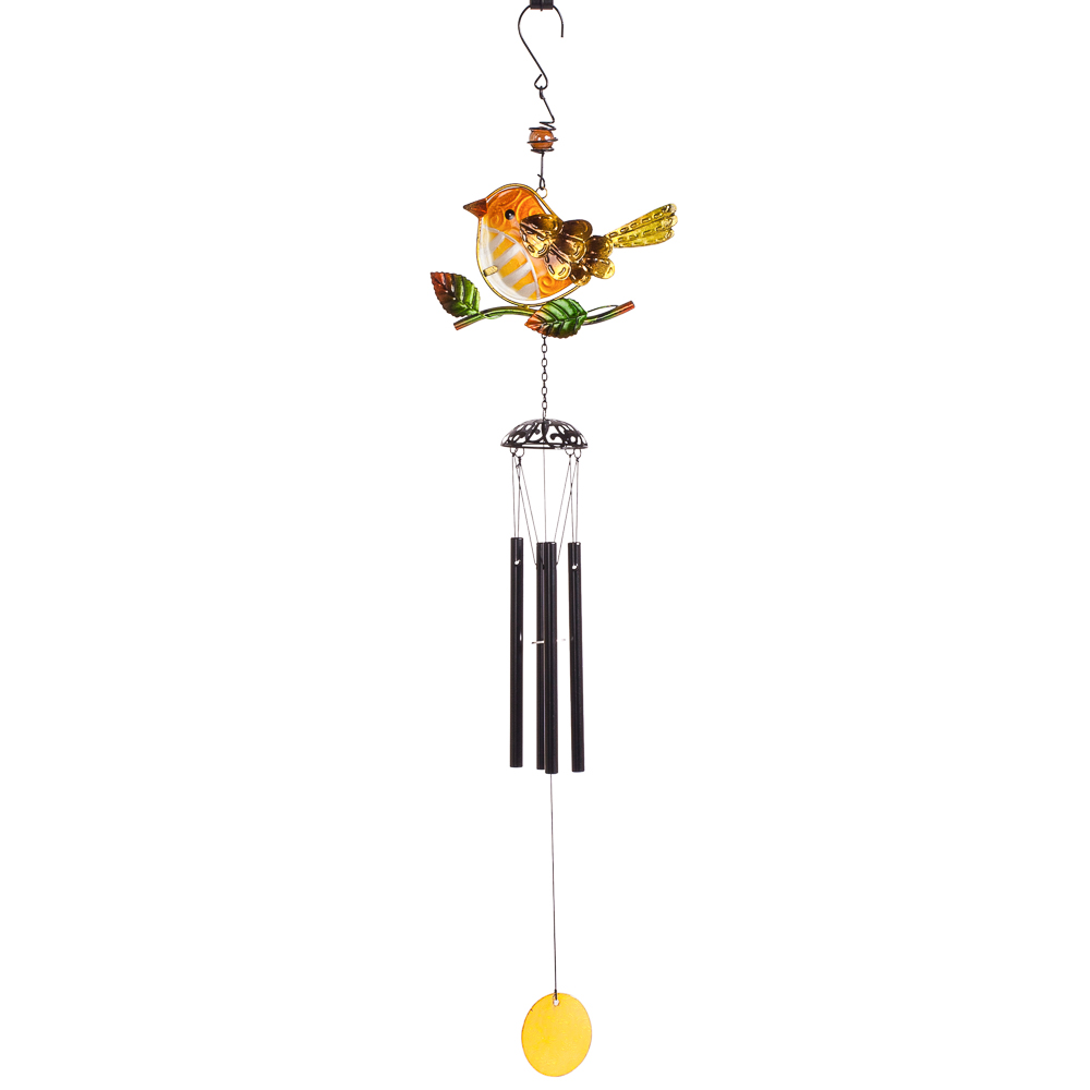 Transpac Imports Bird Wind Chime in Yellow