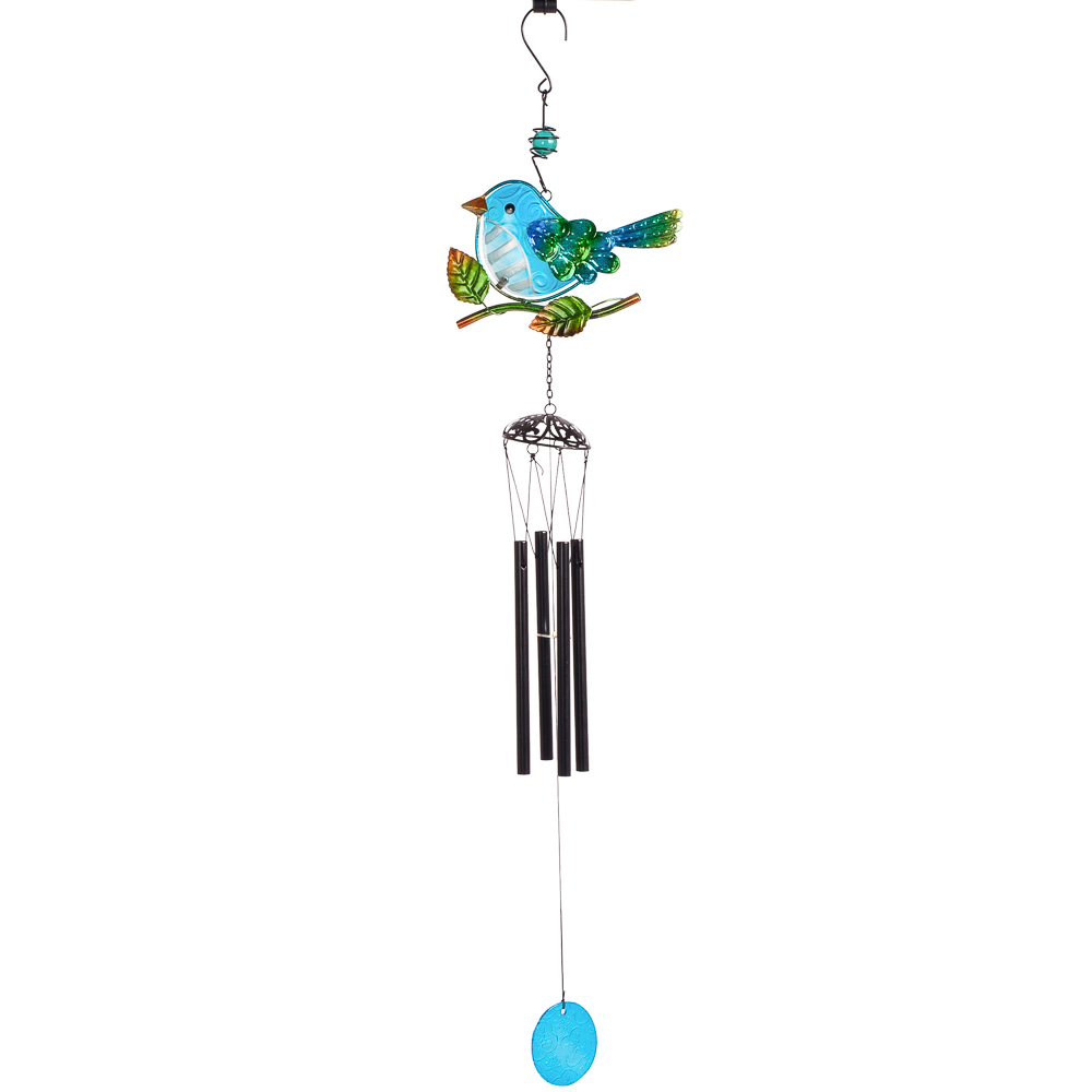 Transpac Imports Bird Wind Chime in Blue