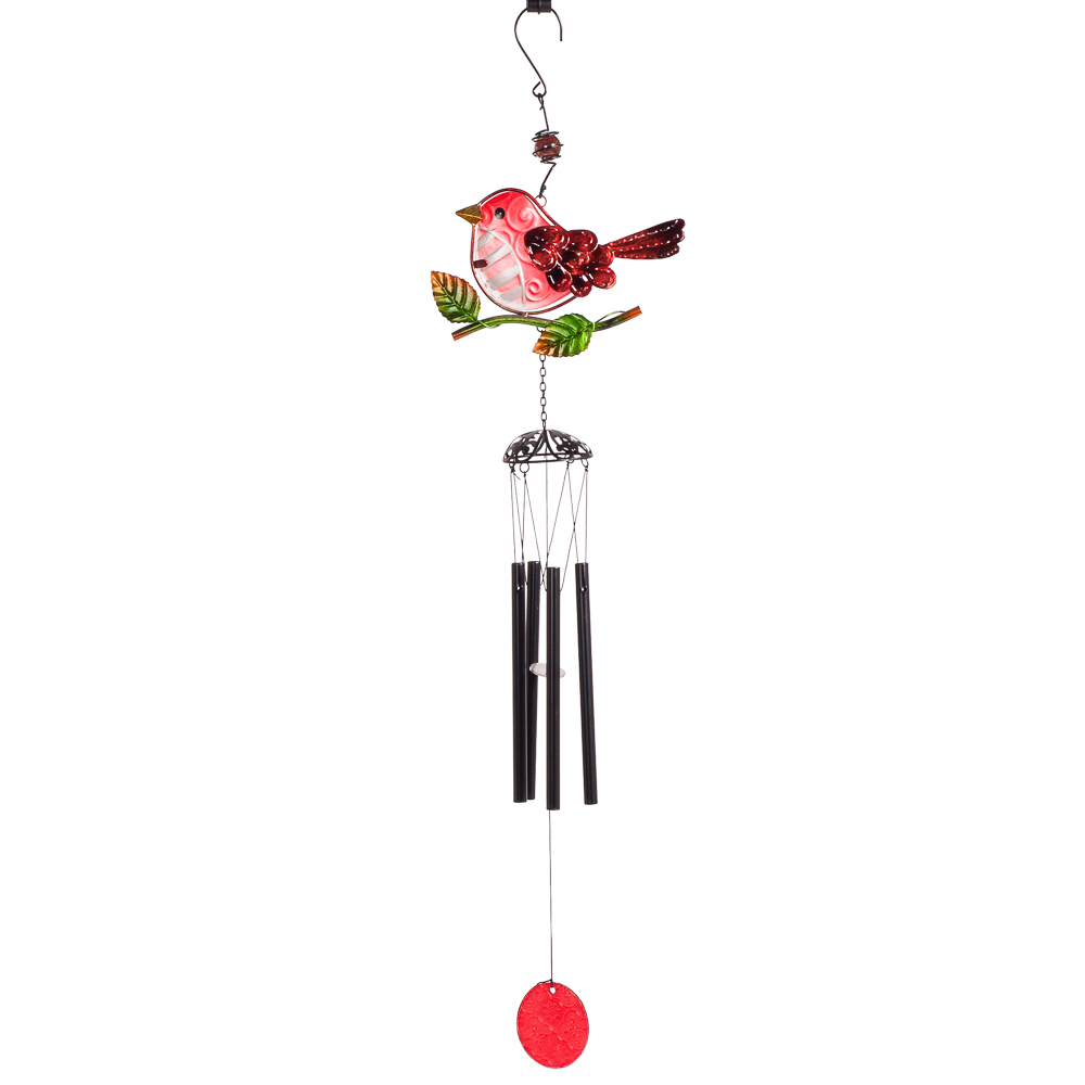 Transpac Imports Bird Wind Chime in Red