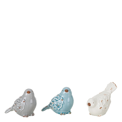 Transpac Imports Ceramic Scroll Bird Figures (Assorted Set of 3)