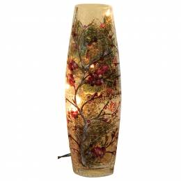 Transpac Imports Crackle Glass Holiday Lighted Vase