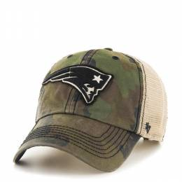'47 New England Patriots Frontline Green Camo Burnett '47 Clean Up