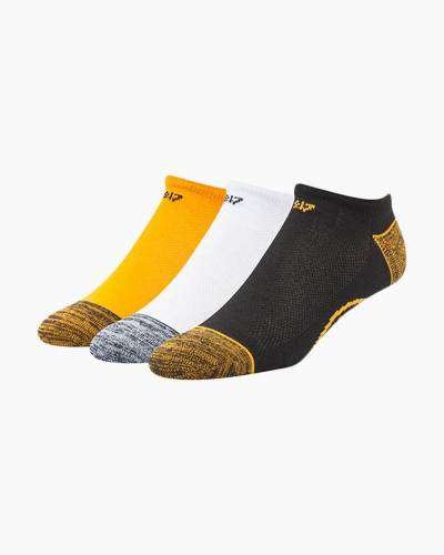 Boston Bruins No Show Socks 3-Pack (Large)