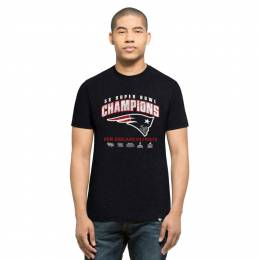 '47 New England Patriots Men's Five-Time Super Bowl Champions Tee