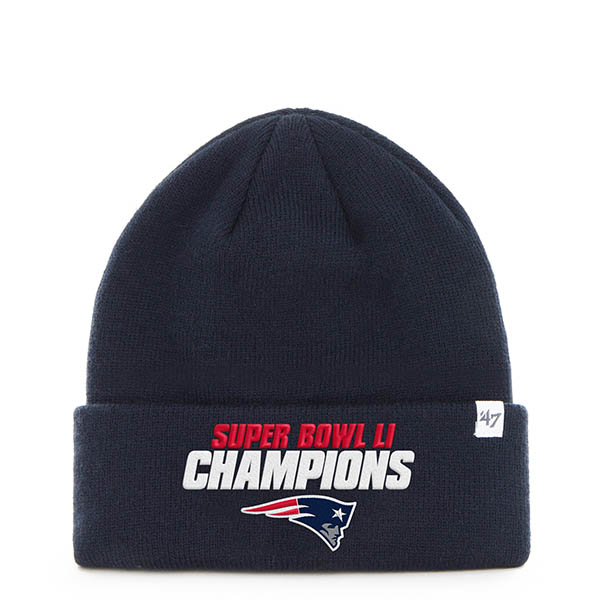47 New England Patriots Super Bowl LI Raised Cuff Knit Cap