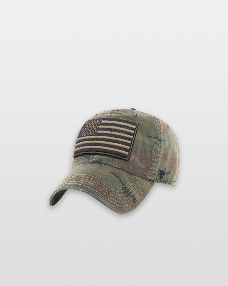 '47 United States Flag OHT Movement Clean Up Cap in Camo