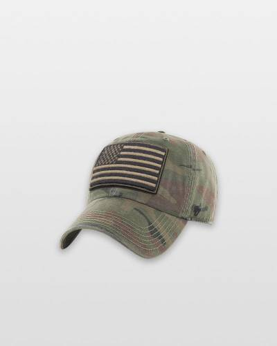 United States Flag OHT Movement Clean Up Cap in Camo