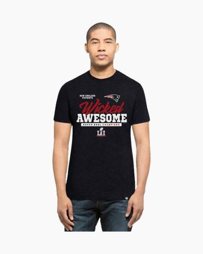 New England Patriots Wicked Awesome Tee in Red